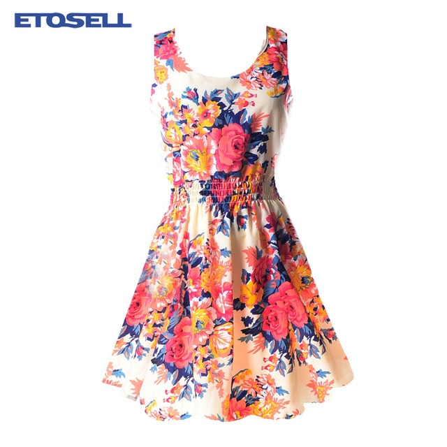 Casual Summer Chiffon Dress (Sexy Floral Short Beach Dress) - cover photo